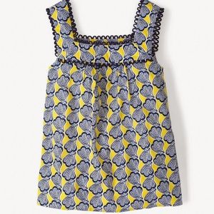 Boden yellow and blue sun top size 8 US
